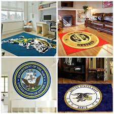 custom us navy logo rugs
