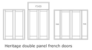 Heritage Double French Style Timber Doors