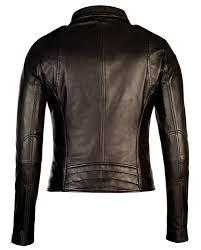 black corbani womens asymmetrical zip biker leather jacket