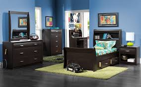 Leons Bedroom Furniture Blue Wall Combined With Grey Floor Kids Furniture Boys It Also Has