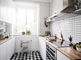 Full Size of Modern Kitchen:fresh Kitchen With White Floor Tiles Excellent  Design Black And ...