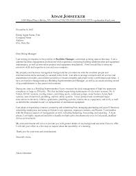 Manager Cover Letter Sample 19 Facilities Techtrontechnologies Com