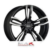 Alloy wheels <b>MAK Luft 8x18</b> ET43 <b>5x120</b> 72.6 Black - TyreLeader.co ...