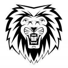 lion face black and white clipart. Images For Lion Face Clipart Black And White Throughout