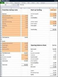 Startup Cost Template Franchise Startup Costs Template Business Plan Template