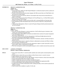 Project Administrator Resume Samples Velvet Jobs