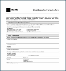 Direct Deposit Template Free Free Printable Bank Direct Deposit Form Template