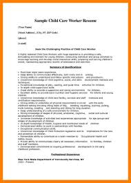 11 Resume For Child Care Mla Cover Page