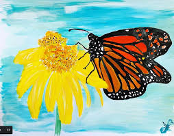 <b>Butterfly</b> on <b>Sunflower Print</b> — 17 x 11 inches — Art So Electric