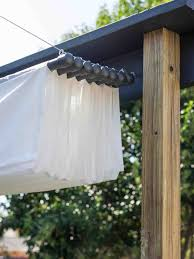 diy retractable pergola canopy kit made with a painters tarp from home depot rubber rhcom uk