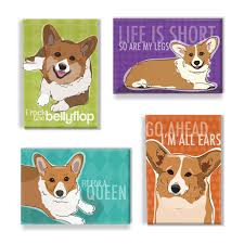 gifts for pet lovers. Is There A Corgi Lover On Your List? Surprise Them With This Handmade Magnet Set By PopDoggie Etsy ($22.00 For Of Four Magnets). Gifts Pet Lovers