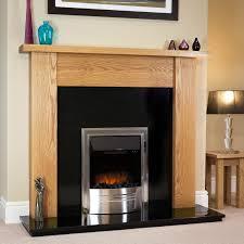 Straight Solid Oak Fireplace Surround