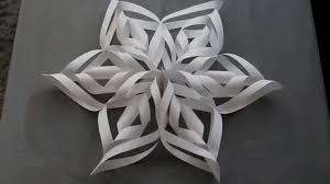 paper snowflakes 3d 3d paper snowflakes diy youtube