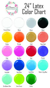 Latex Balloons 24 Inch Round Order By Color Chart 19 Color Choices