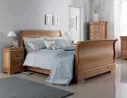 nancy high footend oak sleigh bed
