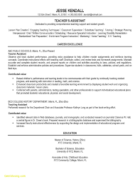 Teacher Assistant Resume Examples Inspirational Sample Resume