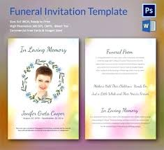 Funeral Invitation Template Magnificent Obituary Card Template Eulogy Funeral Invitation Templates Free