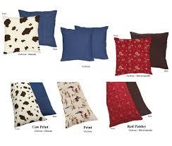 cowboy or cow print sheet sets decorative and pillows