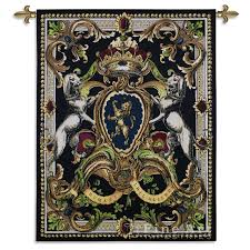 crest on black i tapestry wall hanging rich classic ornament h53 x w41  on black art tapestry wall hangings with crest on black i tapestry wall hanging rich classic ornament h53 x