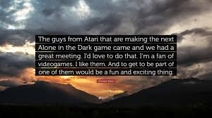 """Christian Slater Quotes Best Of Christian Slater Quote """"The Guys From Atari That Are Making The"""