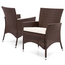 wicker patio dining chairs. Best Choice Products Set Of 2 Modern Contemporary Wicker Patio Dining Chairs W/ Water Resistant O