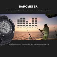 Watch Sunroad Mens Fishing Waterproof Altimeter Barometer Thermometer Watch