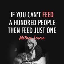Mother Teresa Quote About Third World Poverty Poor Hunger Feed CQ Unique Poverty Quotes