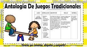 Juegos tradicionales mexicanos para desarrollar habilidades psicomotrices en los niños de nivel básico. Antologia De Juegos Tradicionales Material Educativo