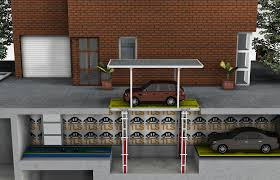 Basement Garage Car Lift With Roof Move T Alternate Image - House with basement garage