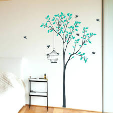 wall decals trees and flowers tree flower wall stickers and wall vinyls by tree with bird