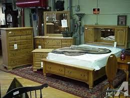 Vaughan Bassett 4 Piece Oak Brand New Bedroom Set - for Sale in ...