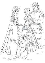 Disney Frozen Elsa And Anna Coloring Pages And Coloring Page
