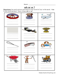 Whale, why, whip, wheel, white, what, when, whack, which, and whistle. W Or Wh Worksheet Have Fun Teaching