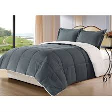 king size blanket. Interesting Blanket King Size 3Piece Sherpa Berber Throw Blanket Comforter Set In Grey In Size L
