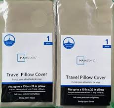 Travel Pillow Cover 15 X 20