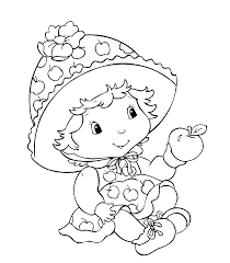 Baby Cartoon Apple Coloring Page Dumpling Strawberry Shortcake S