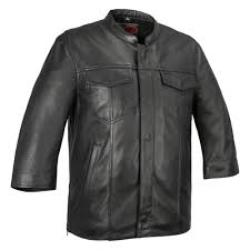 first manufacturing mesa men s leather shirt small size black