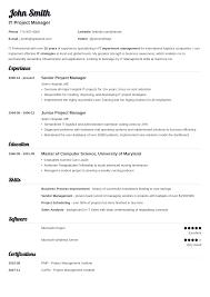 Resume Template Resume Templats Free Career Resume Template