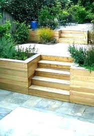 sloped backyard retaining wall ining wall on a slope pictures how to build steep ideas sloped