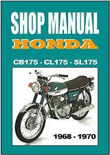 honda cb175 manual honda workshop manual cb175 cl175 sl175 1968 1969 1970 service repair