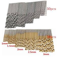 <b>50/100 Pcs</b>/<b>Set</b> Twist Drill <b>Bit</b> Set Saw Set HSS High Steel Titanium ...