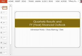 Quarterly Status Report Template Quarterly Earnings Report Maker Template For Powerpoint