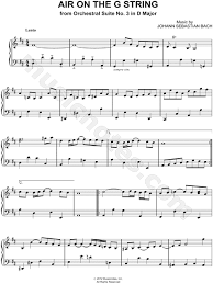 bach sheet music piano air on the g string sheet music composed by johann sebastian bach