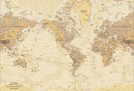mercator phys tanworld mural lg all world map wall paper