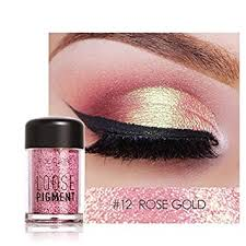pro makeup glitter eyeshadow shimmer pigment loose powder beauty makeup eye shadow rose gold