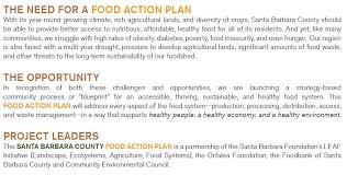 The Food Action Plan – Santa Barbara County Food Action Plan