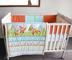 woodland crib bedding sets foxes woodland newborn crib bedding set baby girl cot set applique quilt