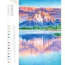 landscape drawing book booculchaha feile bird color pencil landscape drawing book learning