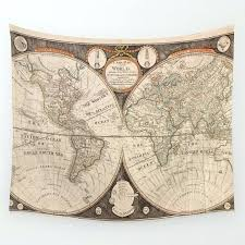 world map wall tapestry print hanging art decoration