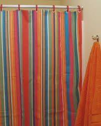 striped shower curtain multicolor